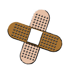 Medical plaster icon bandaid element first aid kit vector