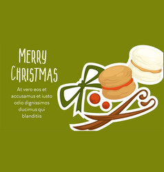 merry christmas winter season holiday celebration vector image