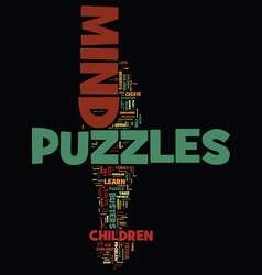 Mind puzzles and busters text background word vector