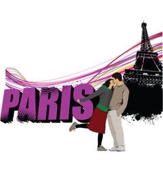 paris typography vector image