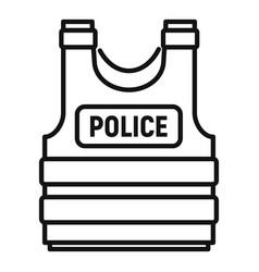 Police bulletproicon outline style vector