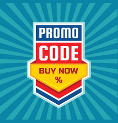 Promo code coupon design buy now percent vector