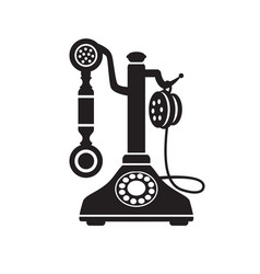 retro phone vintage old technique vector image