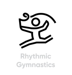 rhythmic gymnastics sport icons vector image