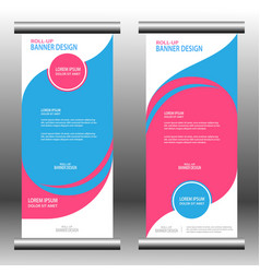 roll up banner 027 vector image