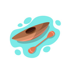 rowing race boat for one person kayak ride icon vector image