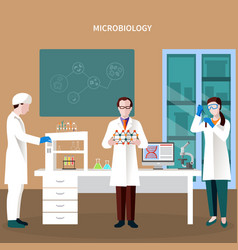 scientists people flat composition vector image