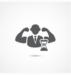 Self discipline icon vector