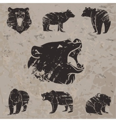 Set different bears 3 vector