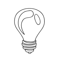 silhouette contour with transparent bulb vector image