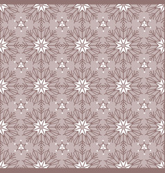 Simple taupe monochrome bohemian christmas lace vector