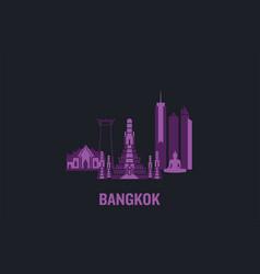 Skyline bangkok vector