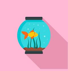 small aquarium icon flat style vector image