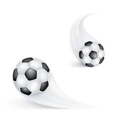soccer ball in flight football sign or emblem for vector image