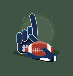sport fan glove vector image