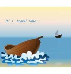 Summer travel background vector