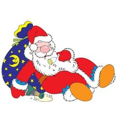 Tipsy Santa Claus vector image