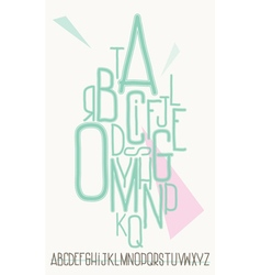 Turquoise capital alphabet letters vector
