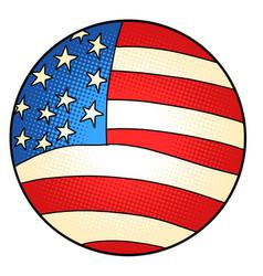 usa flag star-striped state symbol america vector image