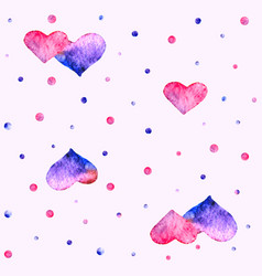 Watercolor heart pattern vector