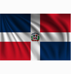 Waving dominican republic vector