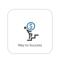 Way to Success Icon Business Concept Flat Design vector image