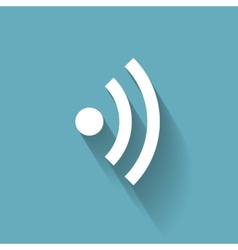 Wi-Fi Flat Icon for Different Electronic Devices vector image