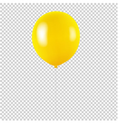 Yellow balloon isolated transparent background vector