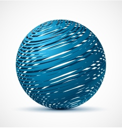 Abstract blue sphere with realistic shadow vector image vector image