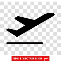 Airplane Departure Eps Icon vector image vector image