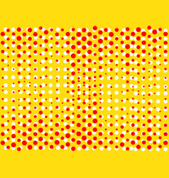 background with dots of red and yellow colors pop vector image vector image