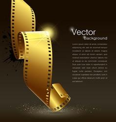 Camera film roll gold color vector image