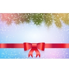 Christmas snowy background vector