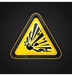 Explosive warning sign vector