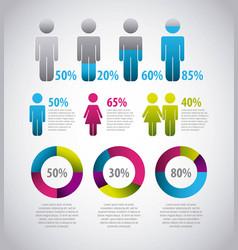 Infographics statistics diagram vector