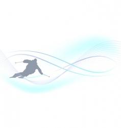 winter background skier vector image