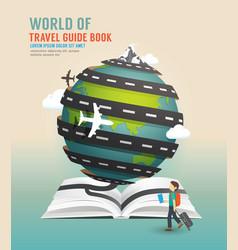 World travel design open book guide concept vector