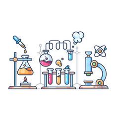 chemical scientific experiment vector image