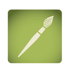 green emblem paint brush icon vector image vector image