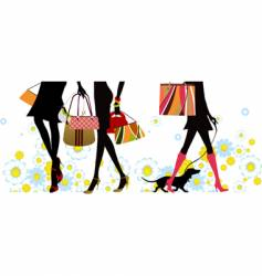 summer shopping vector image vector image