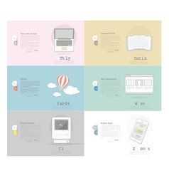 Icons Set Banner for Business Web and print desig vector image