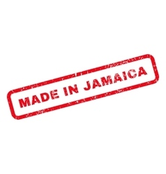 Made In Jamaica Text Rubber Stamp vector image
