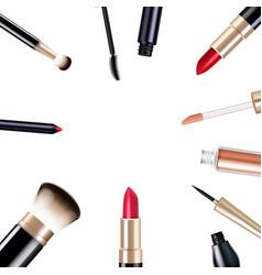 makeup items set vector image