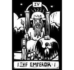 Tarot Card Emperor vector image