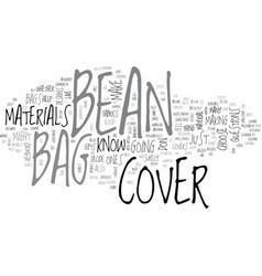 bean bag cover text word cloud concept vector image