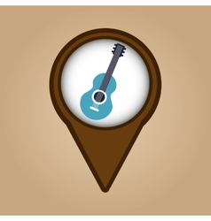 blue guitar vintage background icon vector image