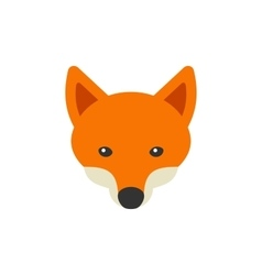 Red Fox Head Logo on White Background vector image