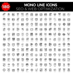 SEO Icon Set vector image vector image