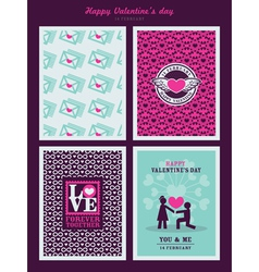 Valentines Day background for invitation card vector image