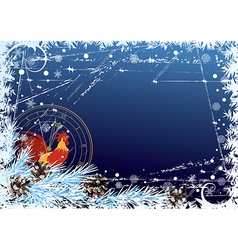 2017 New Year frame vector image
